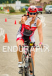 Pro athlete Jackie Arendt reaches for nutrition at the aid…