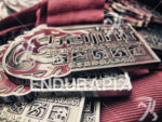 Finisher medals at the 2013 Beijing International Triathlon on September…