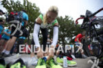 Jenna Parker preparing her transition area at the 2013 Beijing…