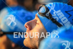 Particpant concentrates before the start of the 2013 Ironman 70.3…