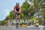 Paratriathlete riding at the 2013 Manaus ITU Sprint Triathlon Pan…