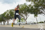 Paratriathlete Leandro machado running at the 2013 Manaus ITU Sprint…