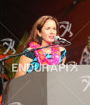 Diana Bertsch, Event Director speaks at the Carbo Dinner before…
