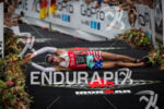 Matthew Russell rolls across the finish line at the 2013…
