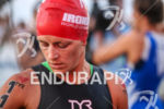 Linsey Corbin concentrates before the 2013 Ironman World Championship in…