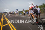 Mathew Russlle cools off on the bike at the Ironman…