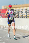 Leanda Cave running at the 2013 Ironman 70.3 Miami in…