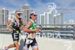 Filip Ospaly running with  Nils Frommhold at the 2013 Ironman…