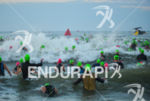 Age groupers face some waves during the swim start at…