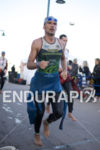 Victor Del Corral exits the water at Ironman Arizona on…