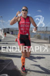 Michelle Vesterby reaching mile 2 while on the run at…