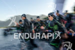 Elite race start at the 2014 Ironman 70.3 Pucón in…