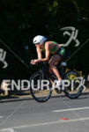 Dede Griesbauer riding at at the 2014 Ironman 70.3 Pucón…