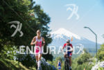 Valentina Carvallo running with the Villarrica Volcano on the background…