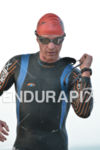 Ricchie Cunningham exits the water at the 2014 Ironman 70.3…