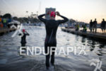 Julie Dibens (GBR) enters the water in preparation for the…