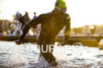 Ben Hoffman (USA) exits the water at the Ironman 70.3…