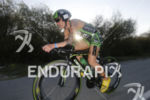 Heather Jackson in the early stage of the bike leg…
