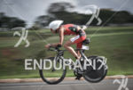 Reinaldo Colucci riding on the bike at the 2014 Ironman…