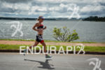 Amanda Stevens running fast at the 2014 Ironman 70.3 Brasilia…