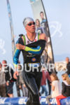 Frederik Van Lierde exists the water after the first swim…