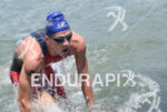 Marcus Fernandes (BRA) was the first out of the water…