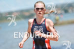 Great Britain's Heather Sellars running for the second place at…