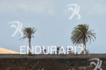 Athletes on the bike portion of the 2014 Ironman Lanzarote…