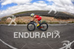 Kristin Moeller at the bike portion of the 2014 Ironman…
