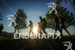 Participants walk to the start of the 2014 Ironman 70.3…