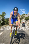 Jérémy Jurkievicz in the lead during the bike leg of…