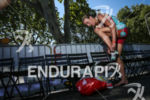 Gina Crawford during the 2nd transition of the 2014 Ironman…