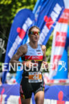 Tine Decker in the lead  during the run leg of…