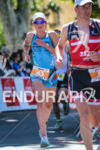 Jeanne Collonge closing the gap on the leader during the…