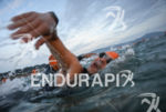 Athlete swimming at the 2014 Ironman Florianopolis in Florianopolis, Brazil…