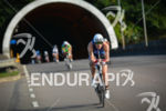 Athletes exiting the tunnel at the 2014 Ironman Florianopolis in…