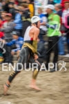 Josh Amberger exits swim at the 2014 Escape from Alcatraz…