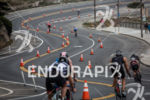 Athletes decend toward the Great Highway on the bike portion…