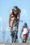 Sebastian Kienle early on the bike at the 2014 Challenge…
