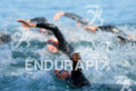 Swimmers of the first start wave of the swim at…