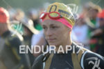 Linsey Corbin before the swim start of the 2014 Ironman…