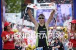 Christian Kramer at the finish of the 2014 Ironman Austria…