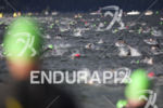 Age groupers take off for the swim start at Ironman…