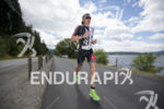 Ben Hoffman in hot pursuit during the run at Ironman…