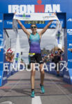 Heather Wurtele claiming victory at Ironman Coeur d'Alene on June…