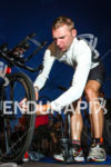 Bart Aernouts checks his bike tire pressure at the 2014…