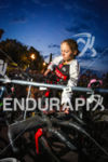 Jeremy Jurkievicz checks in his bike at the 2014 Ironman…