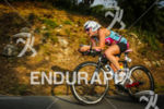 Catlin Snow during the bike leg of the 2014 Ironman…