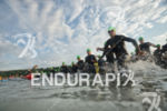 swim start at the Ironman European Championship in Frankfurt, Germany…
