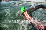 Athlete after swim start at the Ironman European Championship in…